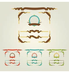Flat page decorations vector
