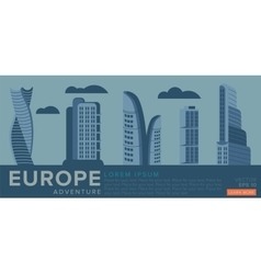 Travel to europe modern architecture vector