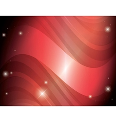 Abstract red background with stars and gradient vector