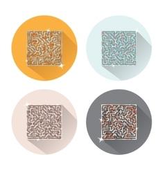 Maze icons vector