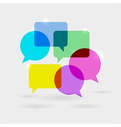 Social network communication speech bubbles vector