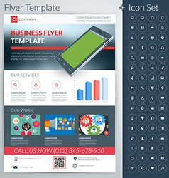 Abstract business flyer or poster template with vector