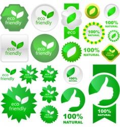Set of natural labels vector