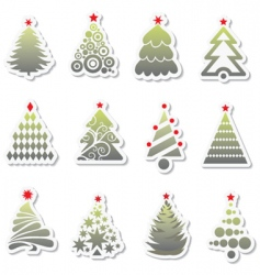 Set of new year tree vector