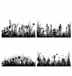 Set of grass backgrounds vector