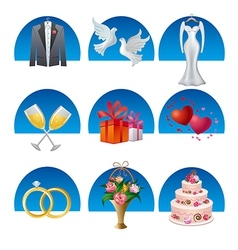 Wedding icon set2 vector