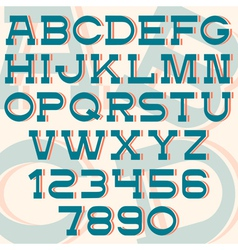 Font and numbers retro style vector