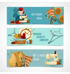 Sewing banner set vector