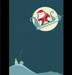 Santa before parachute jump vector