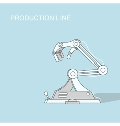 Robotic production line manufacturing and vector