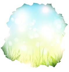 Paper hole with spring background vector