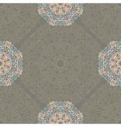 Seamless pattern with abstract elements damask vector