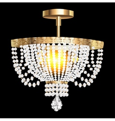 Crystal chandelier with modern vector