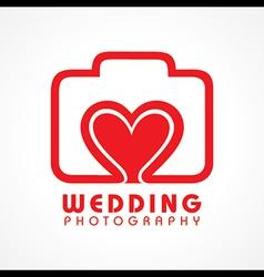 Wedding photography concept vector