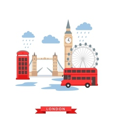 London flat background vector