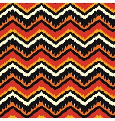 Orange ethnic pattern vector