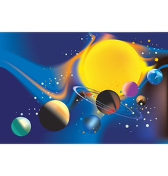 Solar systems poster vector
