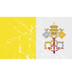 Flag of vatican with old texture vector
