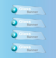 Glassbanner vector