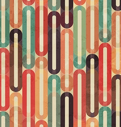 Retro seamless pattern with grunge effect vector
