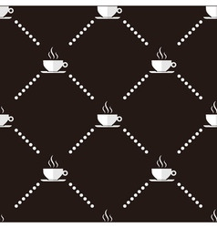 Coffee cup seamless pattern vector