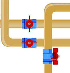 Gas pipes vector