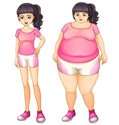 Same girl different body vector
