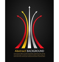 Colored arrows on black background vector