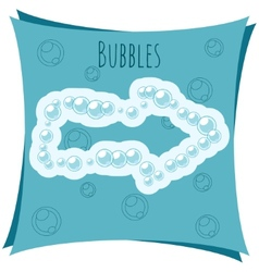 Abstract element arrow made of bubbles vector