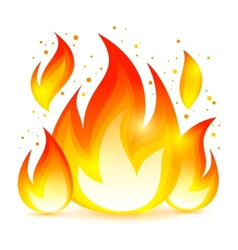 Fire decorative icon vector