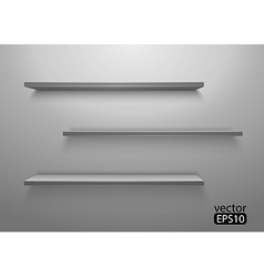 Three shelves on the wall vector