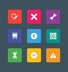 Icons in material design style sign and symbols vector