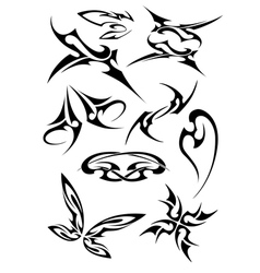Pictures of different tattoos vector