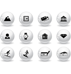 Web buttons switzerland symbols vector