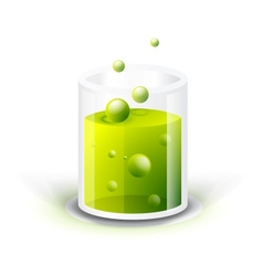 Glass vessel with green fluid vector