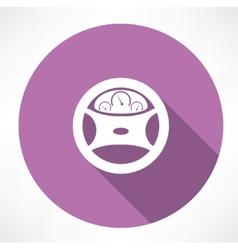 Car dashboard square icon vector