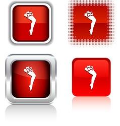Leg icons vector