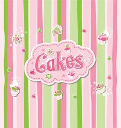 Cake label doodle design vector