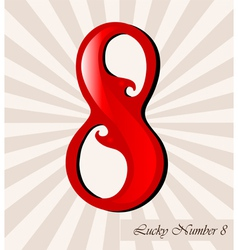 Lucky number eight vector
