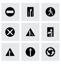 Road element icon set vector