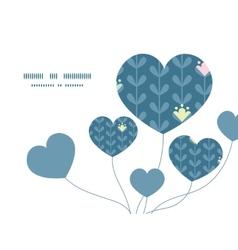 Blloming vines stripes heart symbol frame vector