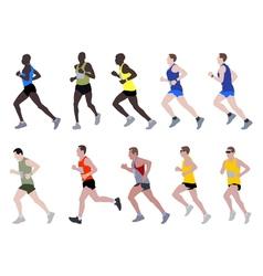 Marathon runners vector