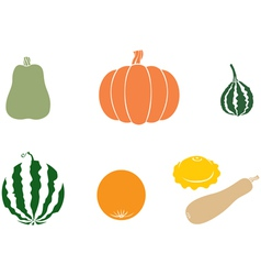 Melons color vector