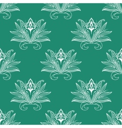 Dainty persian floral seamless pattern vector