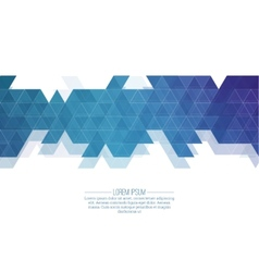 Creative abstract triangle pattern polygonal vector