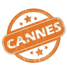 Cannes round stamp vector
