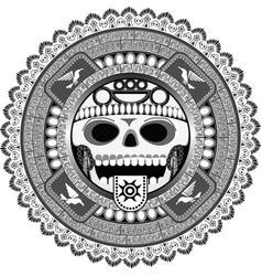 Stylized deity of aztec vector