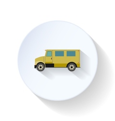 Postal vehicle flat icon vector