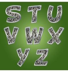 Zebra letters vector