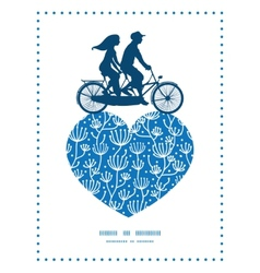 Blue white lineart plants couple on tandem vector